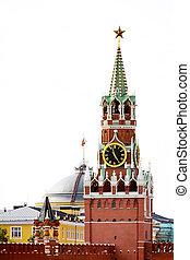 Spasskaya tower - a photo of Spasskaya tower. Red Square. ...
