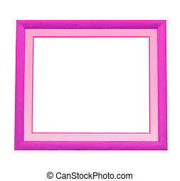 a photo of wooden pink frame