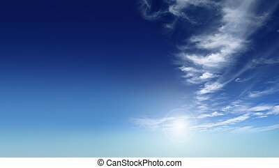 A photography of a beautiful blue sky