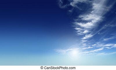 blue sky - A photography of a beautiful blue sky
