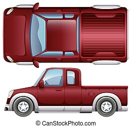 A pickup vehicle on a white background