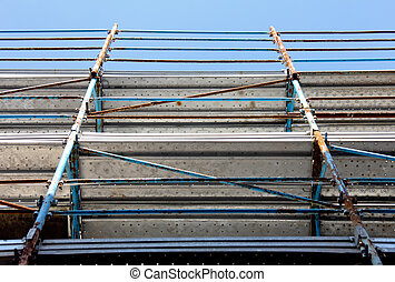 Scaffold - A picture of a Scaffold taken from under