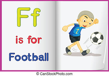 A picture of football in a book