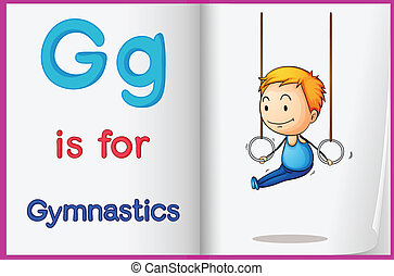 A picture of gymnastics in a book - Illustration of...