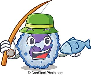 A Picture of happy Fishing basophil cell design. Vector ...