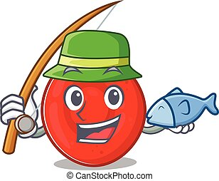 A Picture of happy Fishing erythrocyte cell design. Vector ...