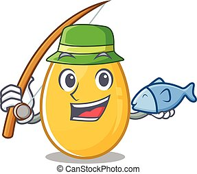 A Picture of happy Fishing golden egg design