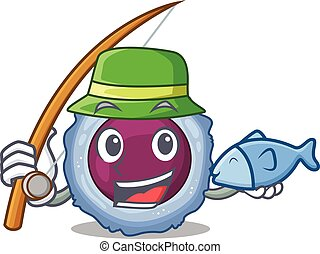 A Picture of happy Fishing lymphocyte cell design. Vector ...