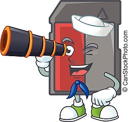 A picture of memory card Sailor style with binocular