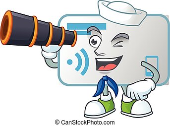 A picture of NFC card Sailor style with binocular