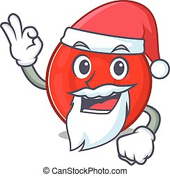 A picture of Santa erythrocyte cell mascot picture style ...