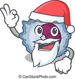 A picture of Santa monocyte cell mascot picture style with ...