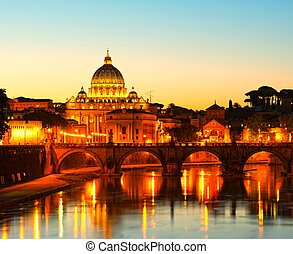 A picture of the beautiful view of St Peters Basilica