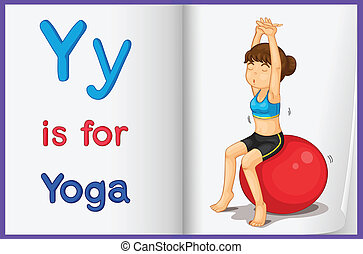 A picture of yoga in a book