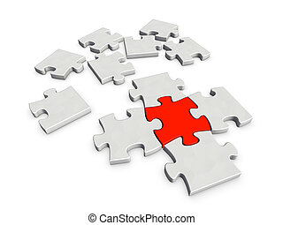 A piece crucial for completing a puzzle - An incomplete...