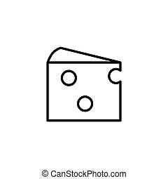 piece of cheese icon on white background