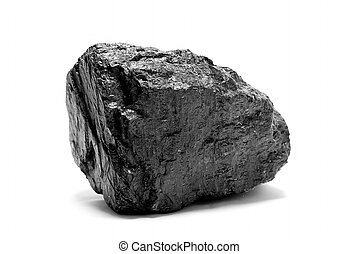 coal - a piece of coal isolated on white