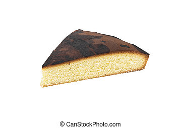 A piece of homemade baked biscuit cake