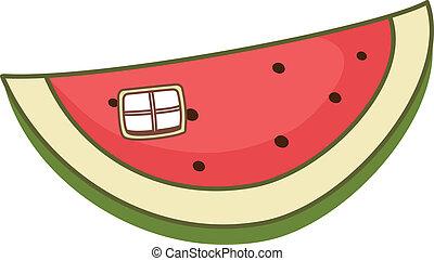 A piece of watermelon