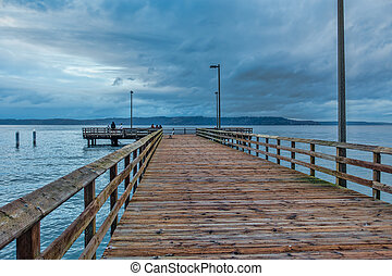 A Pier With Clouds