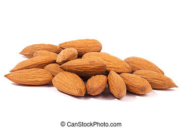 A pile of Almonds