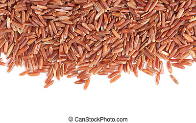 A pile of brown rice