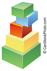 building blocks - a pile of building blocks isolated on...