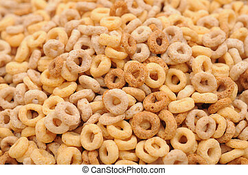 a pile of cereal