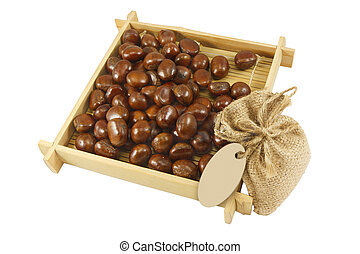a pile of chestnuts - Horizontal image of a pile of...