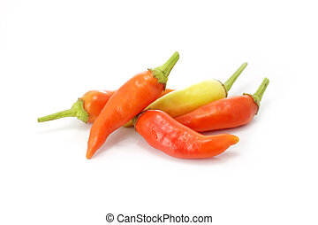 A pile of chilli peppers