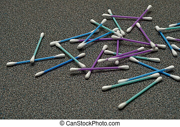 A pile of cotton swabs