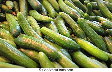 A pile of cucumbers