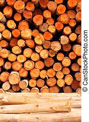 a pile of cut wood stump  - a pile of cut wood stump