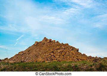 A pile of dirt