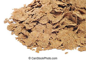 fiber flakes - a pile of fiber flakes on a white background