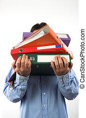a pile of file  folders