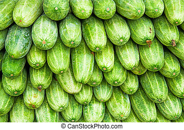 A pile of fresh cucumbers