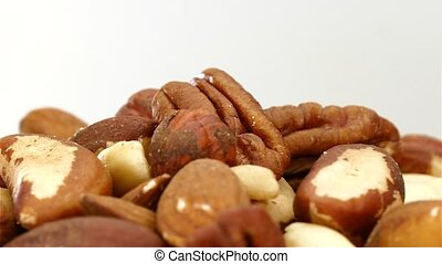 A pile of nuts rotating