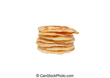 A pile of pancakes.