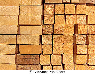 A pile of planks