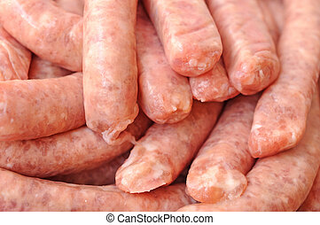a pile of sausages