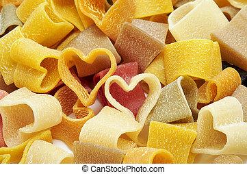 heart shaped pasta