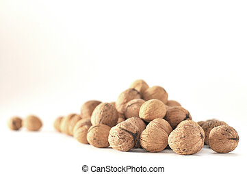 A pile of walnuts