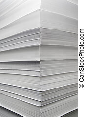 A pile of white paper