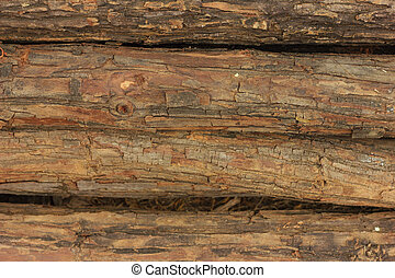 A pile of wood.