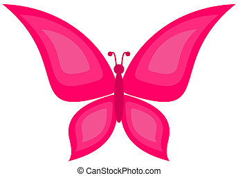 a pink butterfly