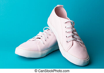 a pink sneakers