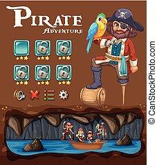 A Pirate Adventure Game Template