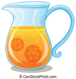 A pitcher of orange juice - Illustration of a pitcher of...