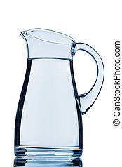 a pitcher of water against white background, symbol photo...